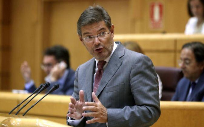 El ministro de Justicia Rafael Catalá.