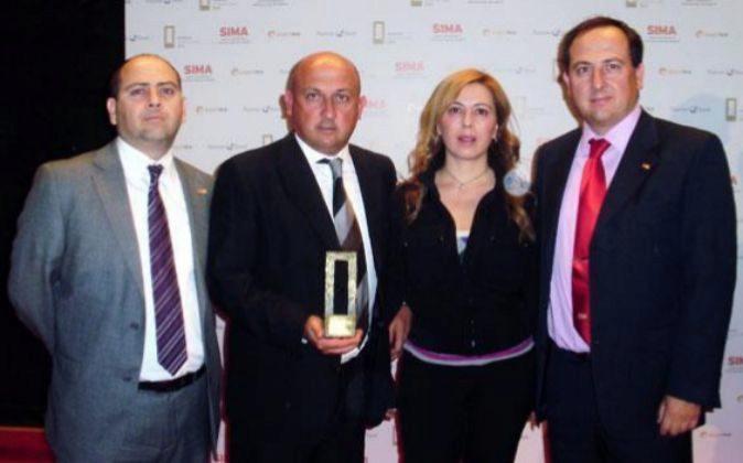 Jesús, Ángeles, Pablo y Joaquín Serna Lorente, socios de TM.