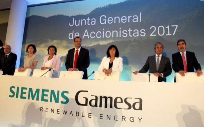 Junta de accionistas de Gamesa Siemens 2017.