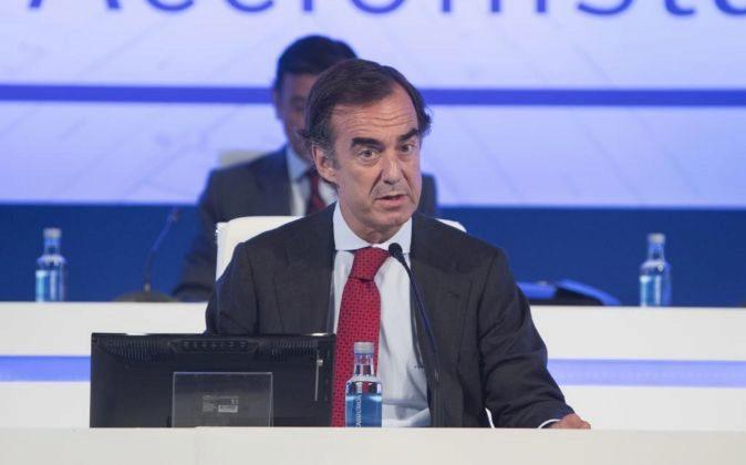 Juan Villar Mir, el presidente de OHL, en la Junta de Accionistas de...