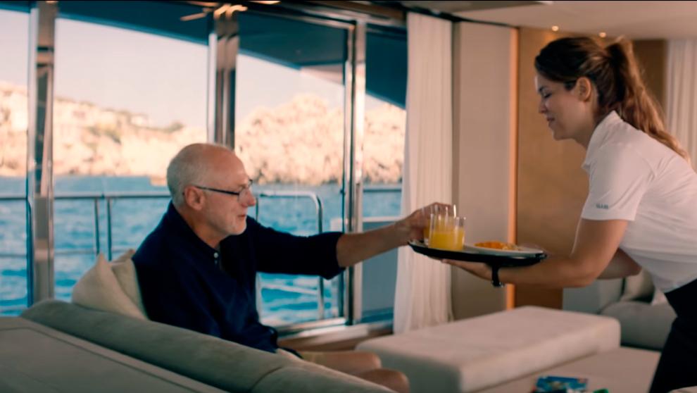 Fotograma del vídeo promocional de la clase M de Princess Yachts.