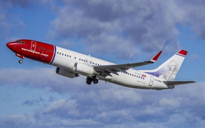 Avión de la aerolínea Norwegian.