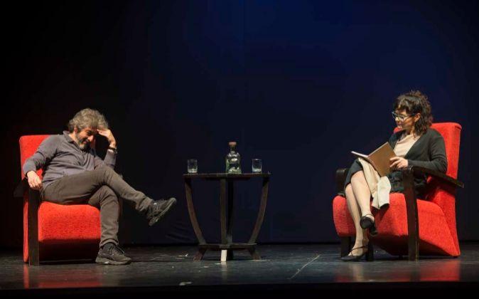 Una escena de la obra con Ricardo Darín y Andrea Prieta.