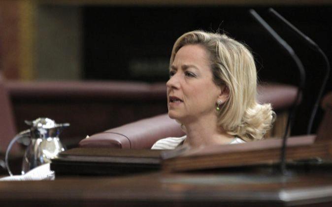 La portavoz de Coalición Canaria (CC) en el Congreso, Ana Oramas,...