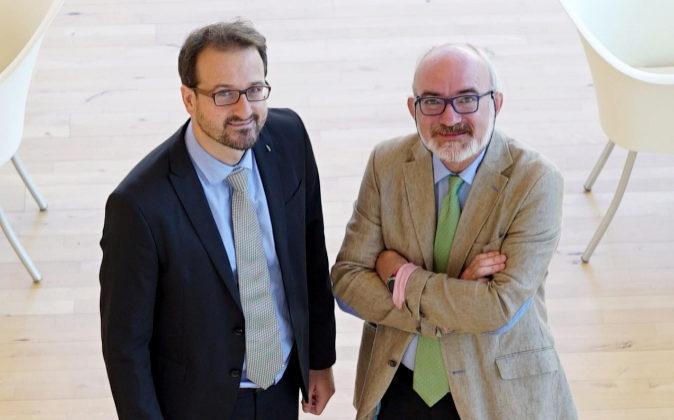 Andoni García Imaz (izqda.) y Javier Segura (dcha.), socios...