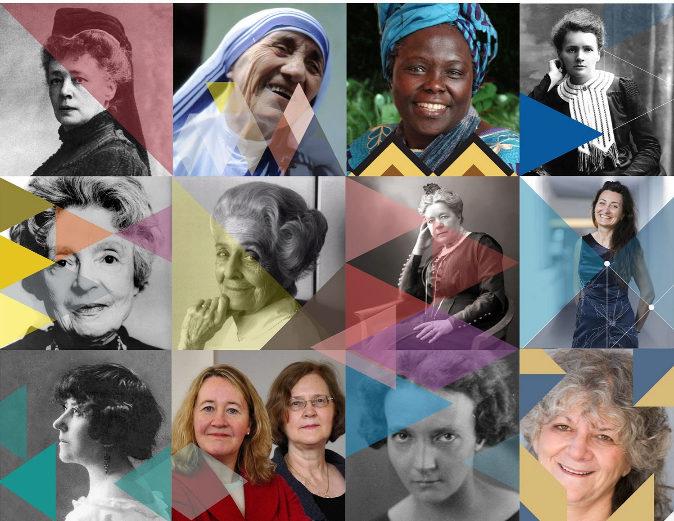 Las doce galardonadas en los Premios Nobel.