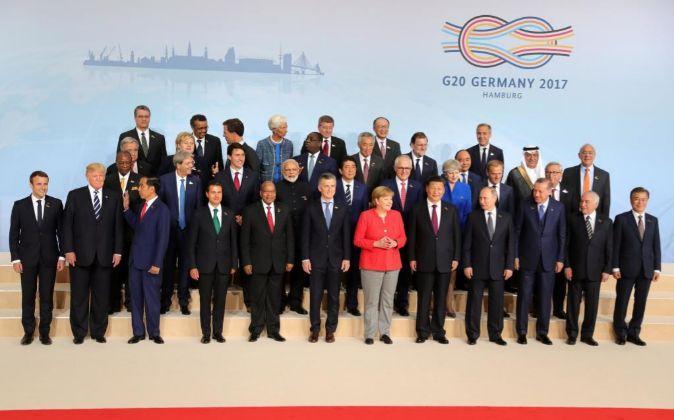 Foto de familia del G20.
