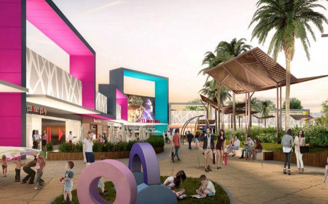 Proyecto del parque comercial Vidanova Parc, de Lar España.
