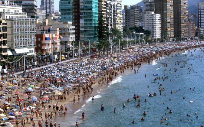 Playa de Benidorm, en Alicante