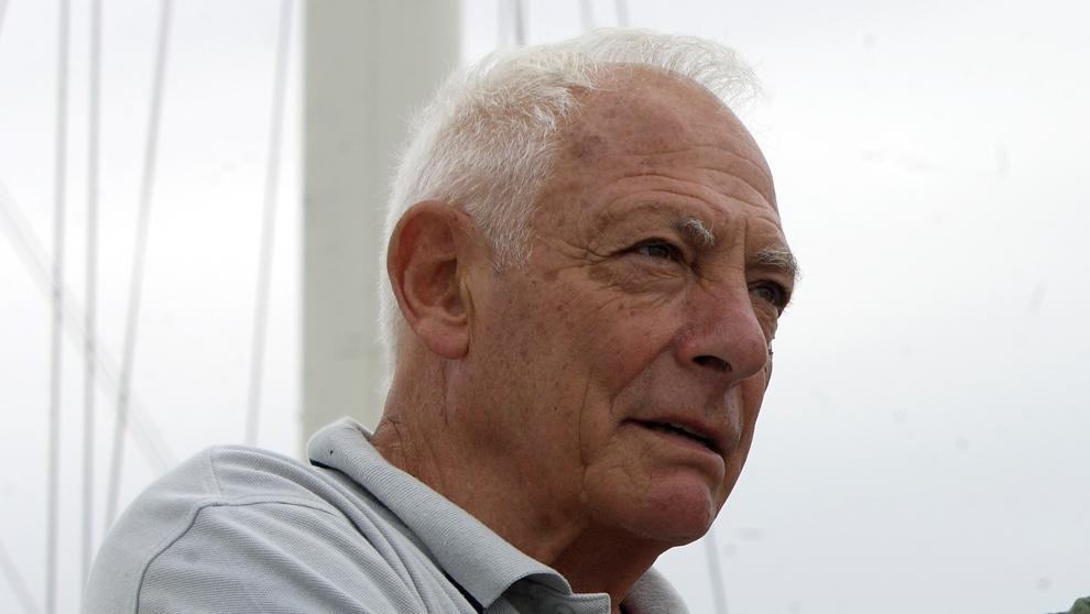 José Luis de Ugarte, en el puerto de Getxo en 2008.