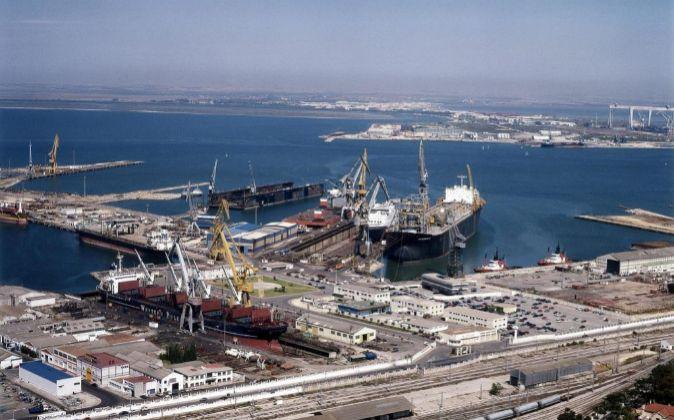 Astilleros de Navantia en Cádiz.