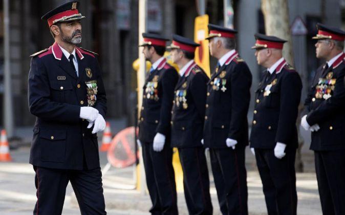 El Major de los Mossos d'Esquadra Josep Lluis Trapero.