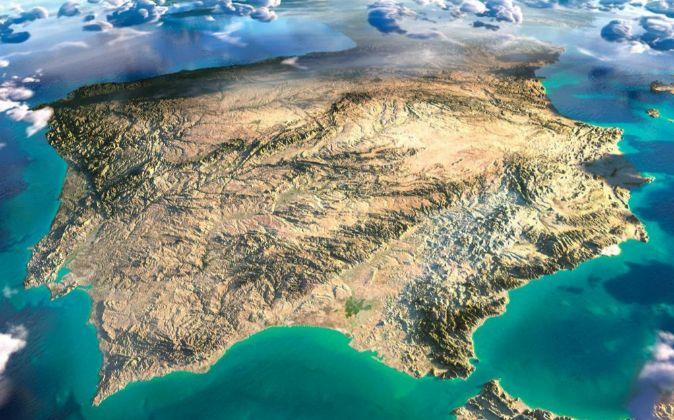Mapa de España en 3D.