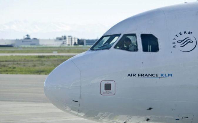 Cabina de un avión de Air France.