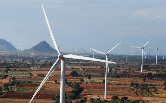 Imagen de aerogeneradores de Siemens Gamesa en India