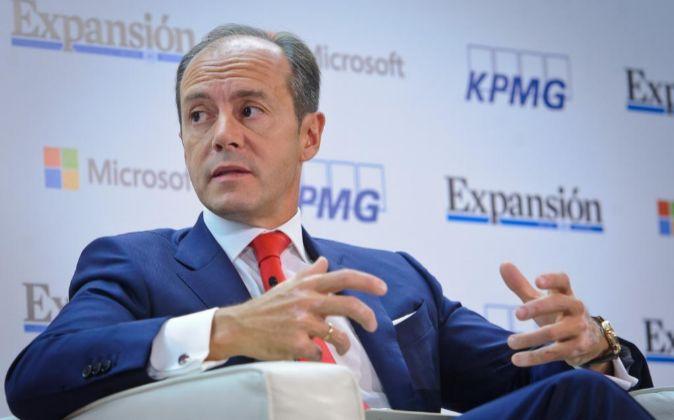 Rami Aboukhair,consejero delegado de Santander durante su...