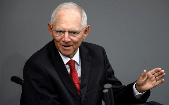 El todavía ministro alemán de Finanzas, Wolfgang Schäuble.