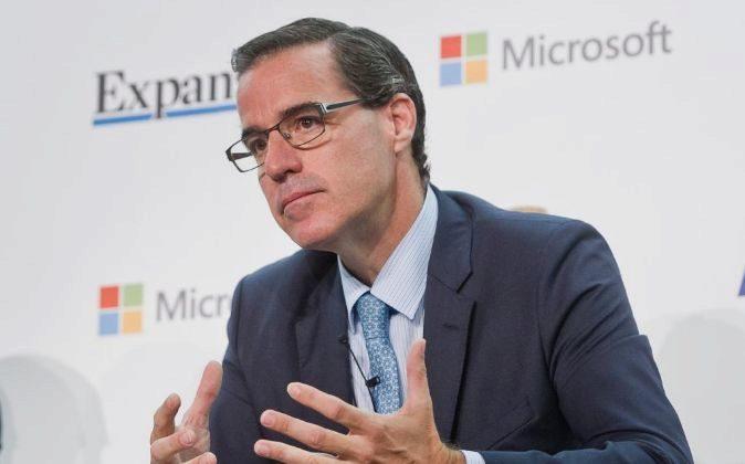 Jaime Sáenz de Tejada, director financiero de BBVA, durante su...