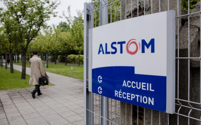 Logo de Alstom.