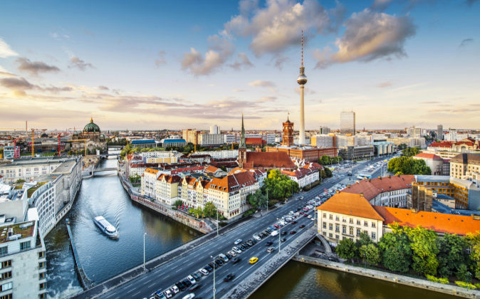 Vista aérea de Berlín.
