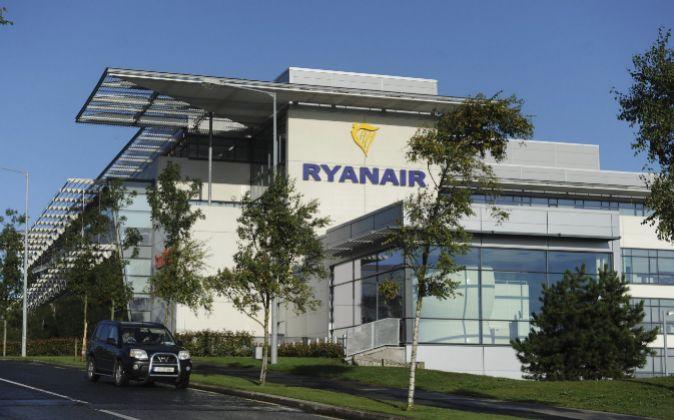Sede de Ryanair en el aeropuerto de Dublín (Irlanda)