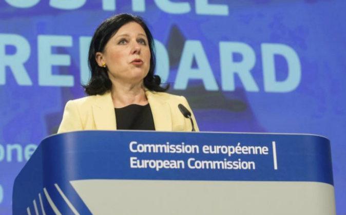 La comisaria europea de Justicia, Vera Jourova.