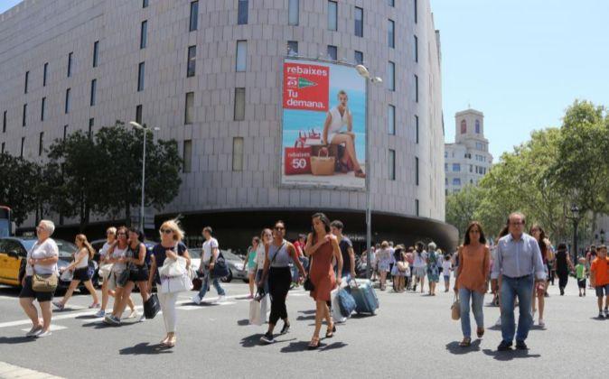 Imagen de El Corte Inglés en Barcelona.