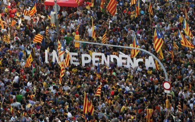 Manifestación en Barcelona durante la pasada Diada.