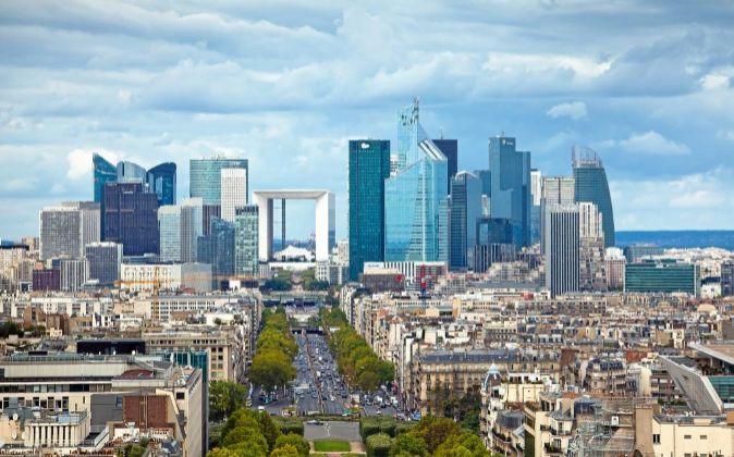 Distrito financiero de París.