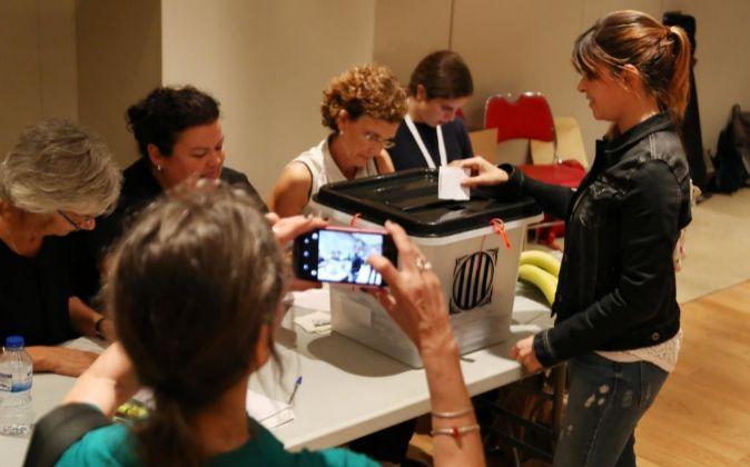 Votaciones en el referéndum de Cataluña.