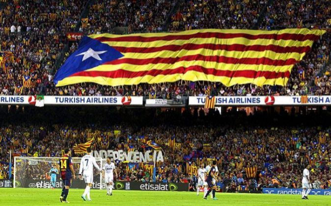 Partido entre el Real Madrid y el FC Barcelona.