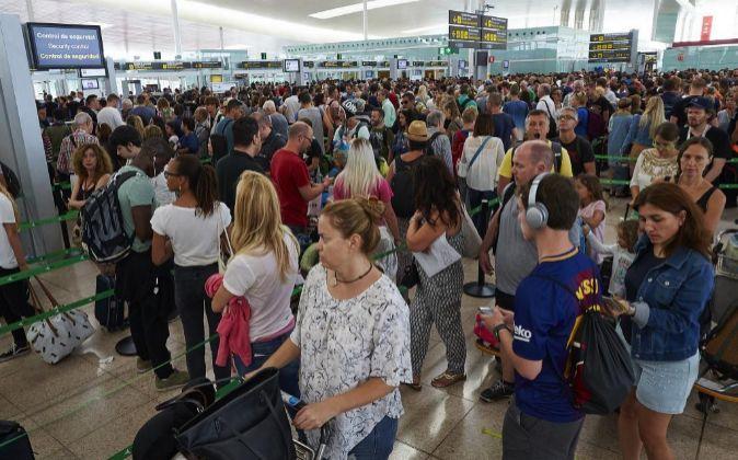 Foto de archivo de el aeropuerto de El Prat (Barcelona).