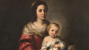 Subasta Virgen del Rosario con el niño Jesús, Murillo