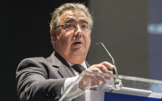 El ministro del Interior, Juan Ignacio Zoido, en un discurso el Día...