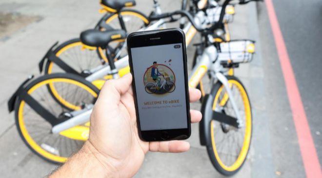 La sinagapurense oBike es una de las primeras firmas de 'bike...