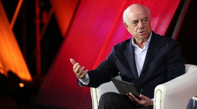 Francisco González, presidente de BBVA, hoy en el congreso South...