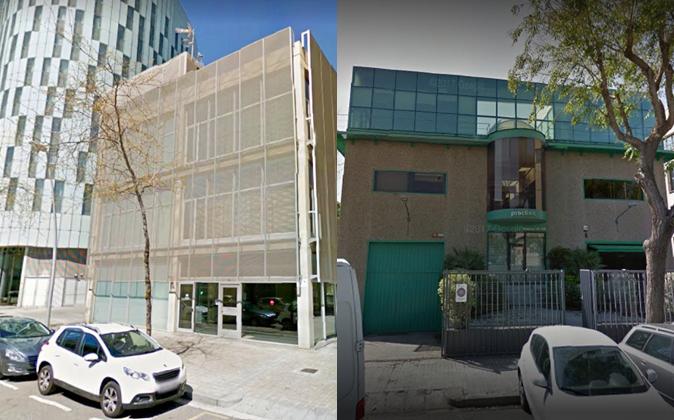 Las oficinas centrales de Eurona en Barcelona y la sede de Proclinic...