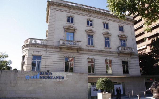 Sede del banco Mediolanum en la Diagonal de Barcelona..