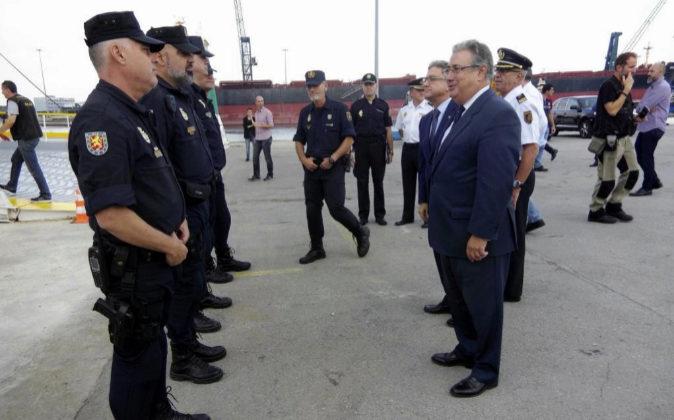 Fotografía facilitada por el Ministerio del Interior del titular,...