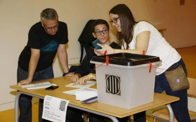 Imagen de las votaciones del 1-O en Barcelona
