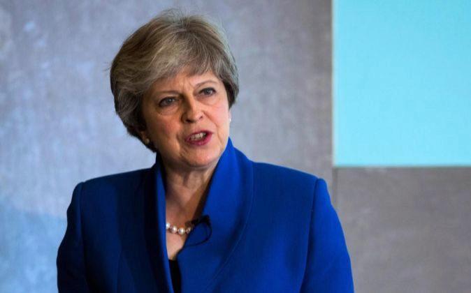 La primera ministra británica, la conservadora Theresa May.