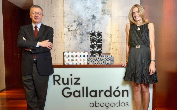 Alberto Ruiz-Gallardón (socio fundador) y Cristina Coto (socia).