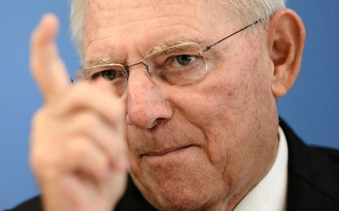 Wolfgang Schäuble, durante la pesentación del borrador de...