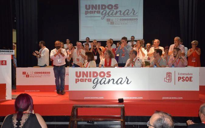 Imagen del XII Congreso Provincial del PSOE en Cáceres.