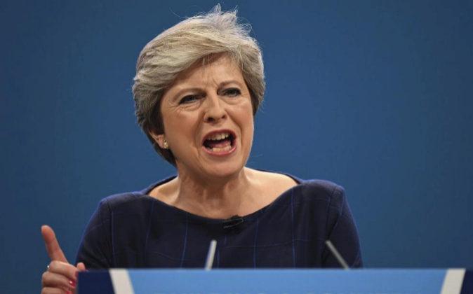 La primera ministra británica, Teresa May.