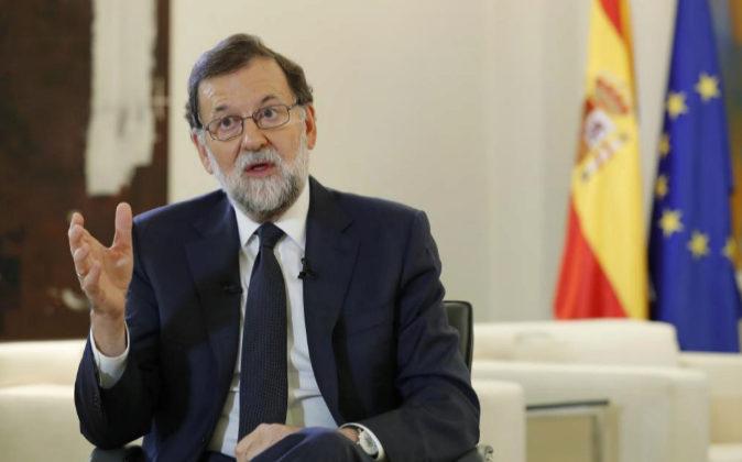 El presidente del Gobierno, Mariano Rajoy en una entrevista con la...