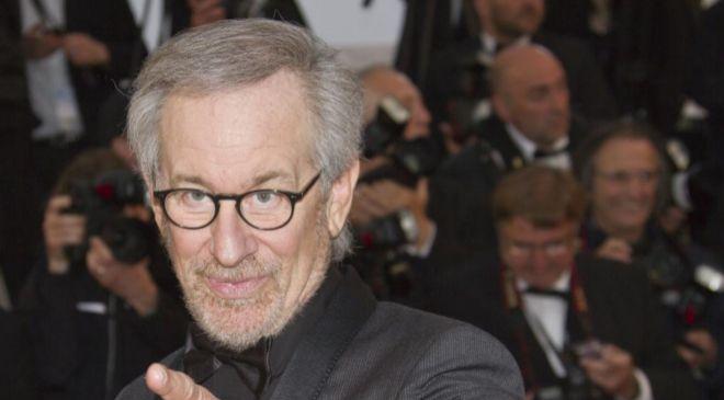 El director y producto de cine, Steven Spielberg.