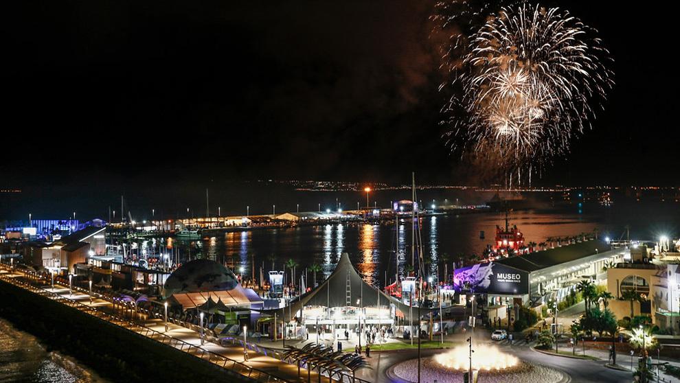 El village de la Volvo Ocean Race 2017, tras su inauguración oficial....