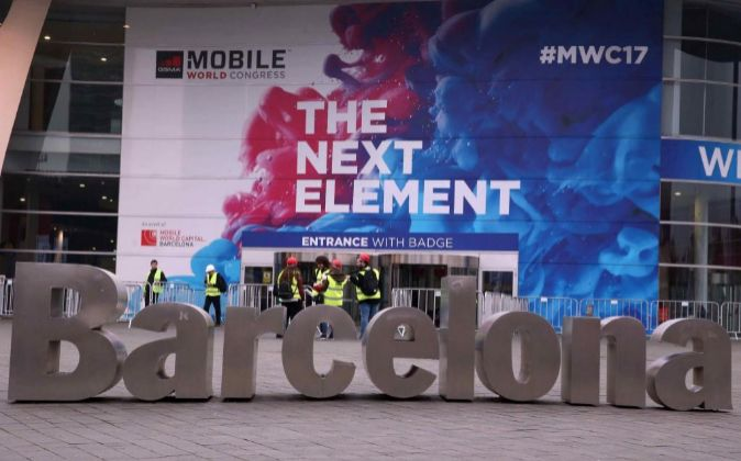 Vista del exterior del Mobile World Congress (MWC).