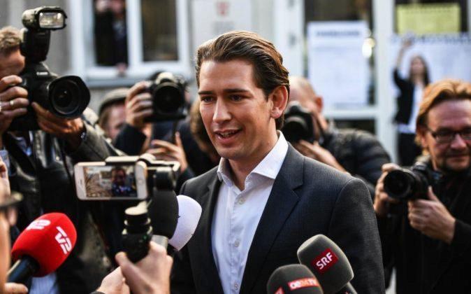 Sebastian Kurz, líder del ÖVP.